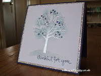 Check out this silver Sheltering Tree card by Stampin' Up!