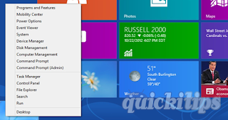 Windows 8 Quick Access Menu