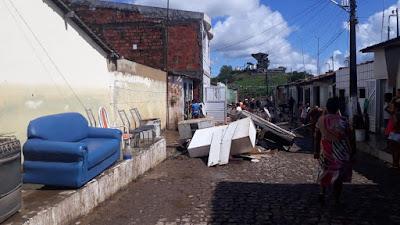 Prefeitura de Riachuelo monta força-tarefa para atender as famílias vítimas da chuva