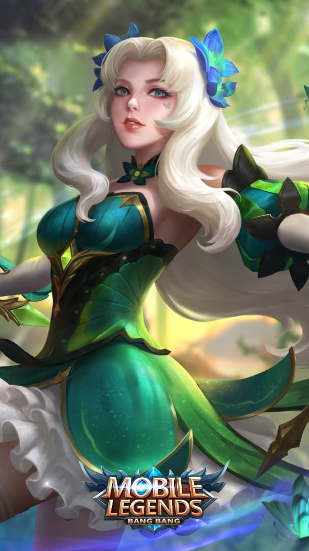 Wallpaper Odette Butterfly Goddess Skin Mobile Legends HD for Android and iOS