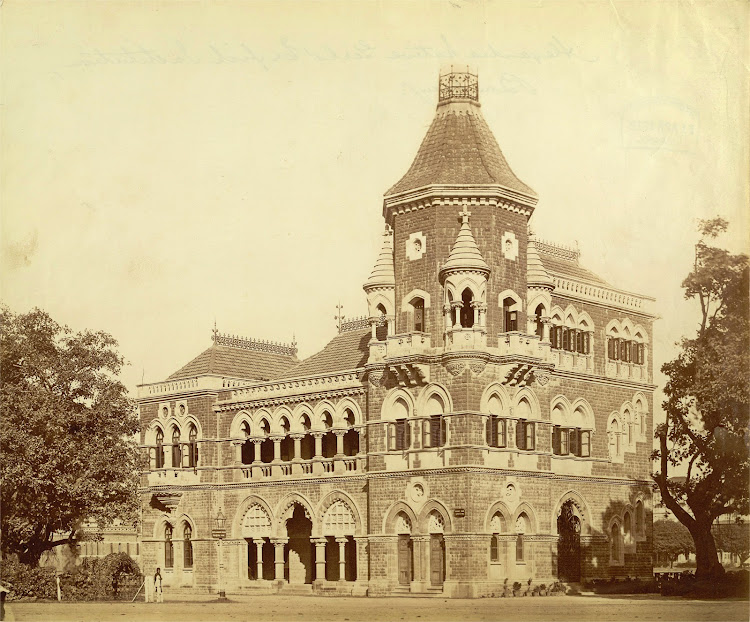 Building of Alexandra Native Girls' English Institution, Bombay (Mumbai) 1890's