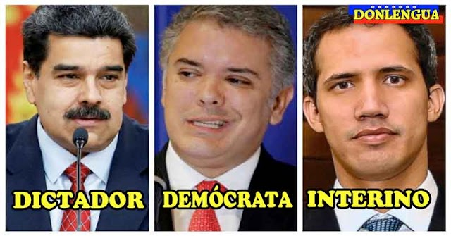 Juan Guaidó descubre otra vez que Iván Duque es demócrata y que Maduro es Dictador