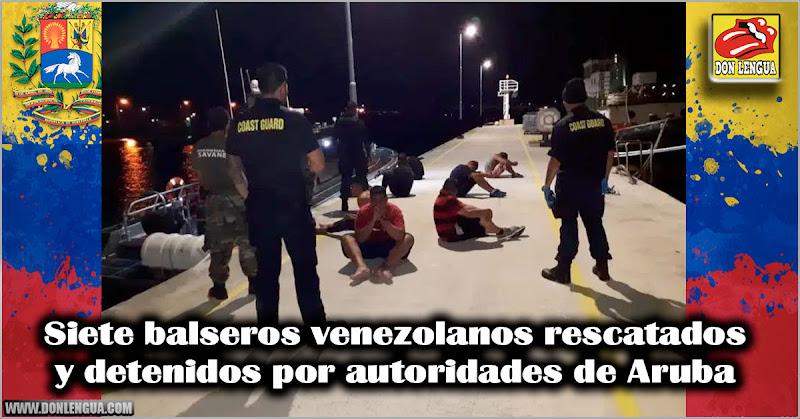 Siete balseros venezolanos rescatados y detenidos por autoridades de Aruba