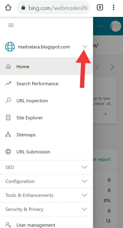 Cara mendaftar Bing webmaster