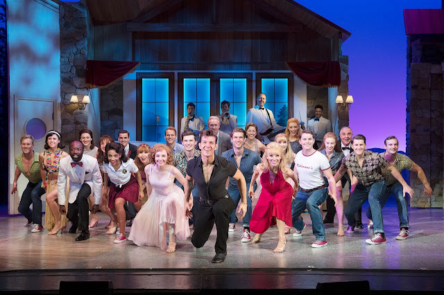 The whole cast assembled on stage for the final dance scene