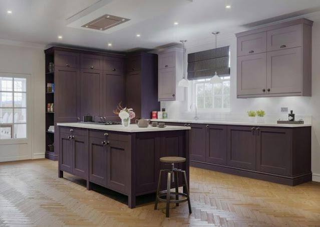 purple kitchen designs