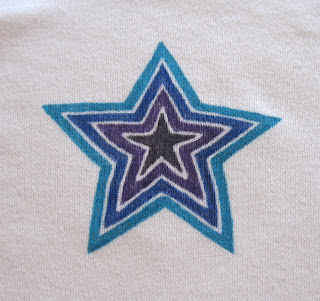 blue purple star onesie