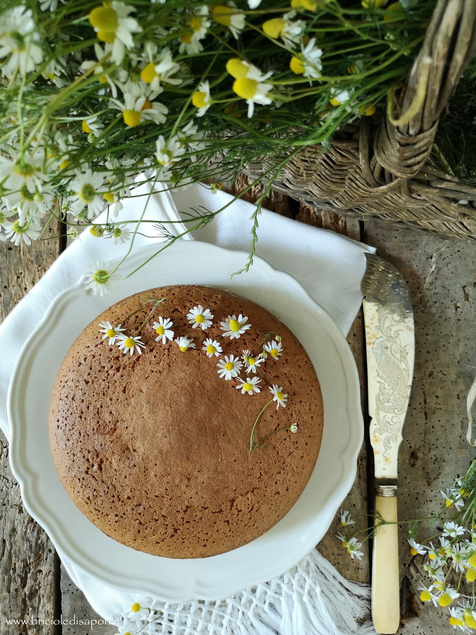 torta di camomilla