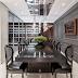 Sala de jantar linda, contemporânea e clássica com adega e cristaleira!