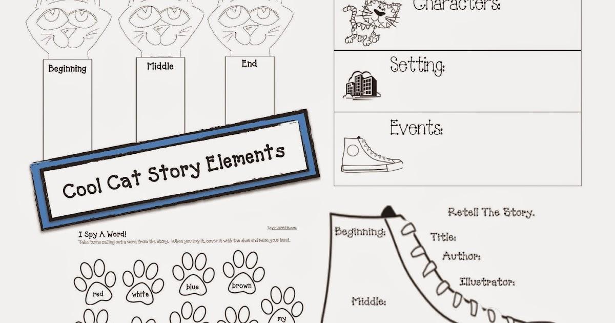 Classroom Freebies: Cat-Themed Story Elements
