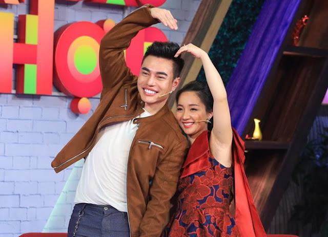 Diễn viên hài Lê Dương Bảo Lâm và bà xã Quỳnh Quỳnh cùng lên sóng truyền hình.