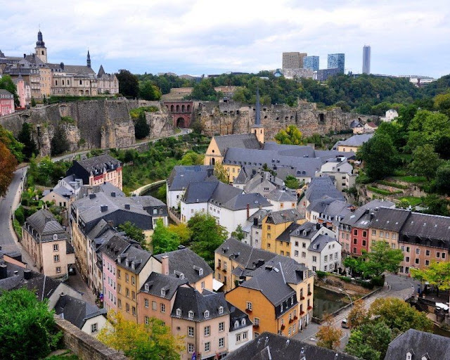The old town of Luxembourg has been recognized as a world heritage site.