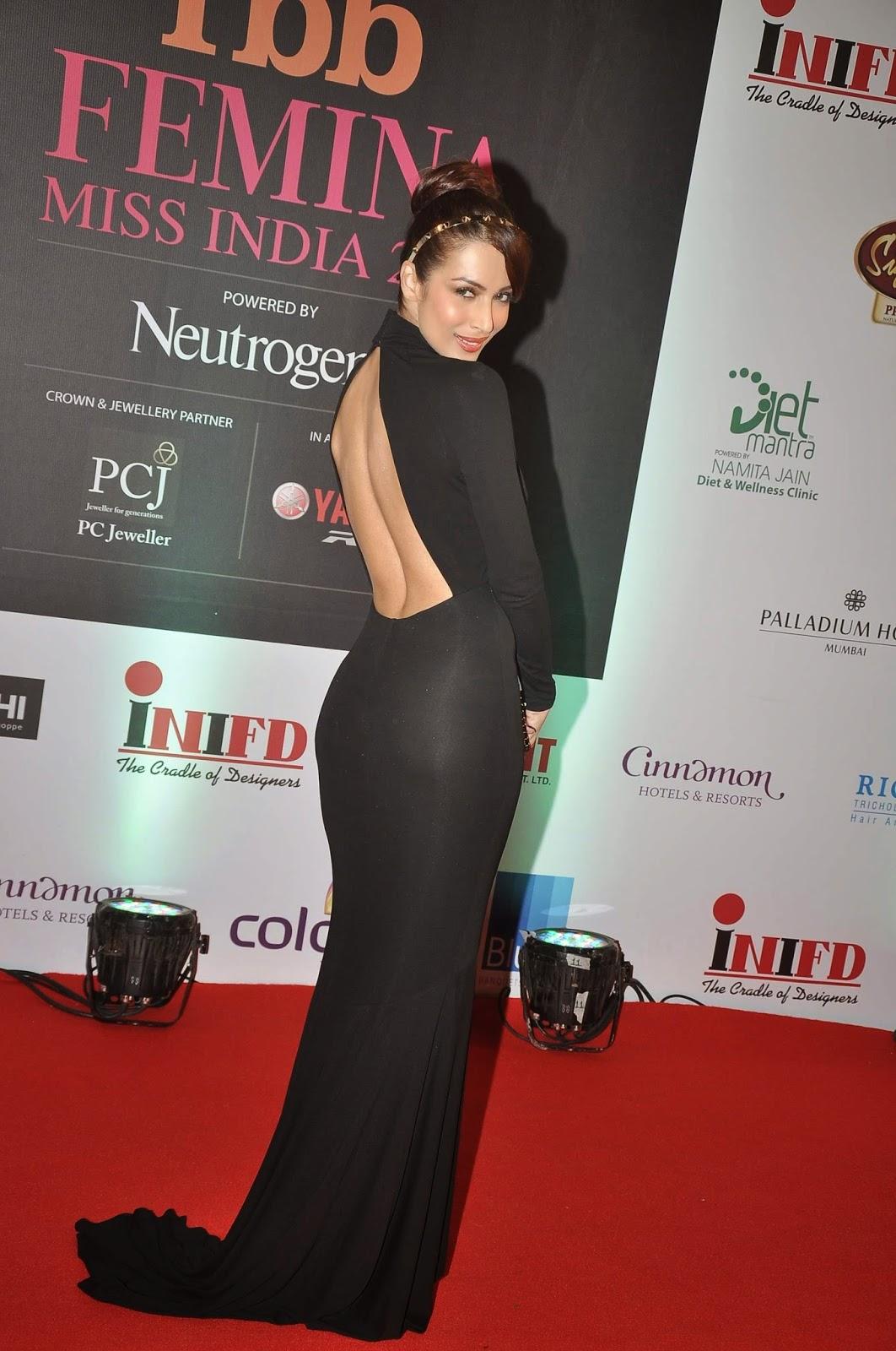 Malaika Arora New Backless Dress Femina Miss Event Mumbai
