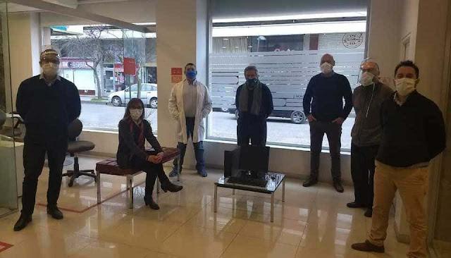 La sucursal Balcarce del Banco Galicia donó tres equipos informáticos al hospital