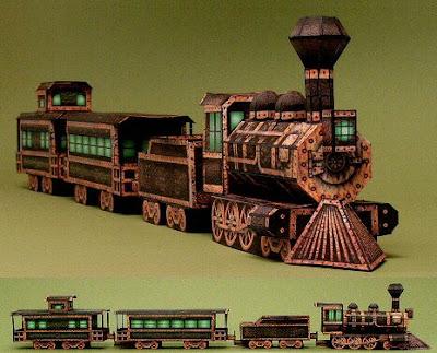 Halloween Locomotive Paper Model
