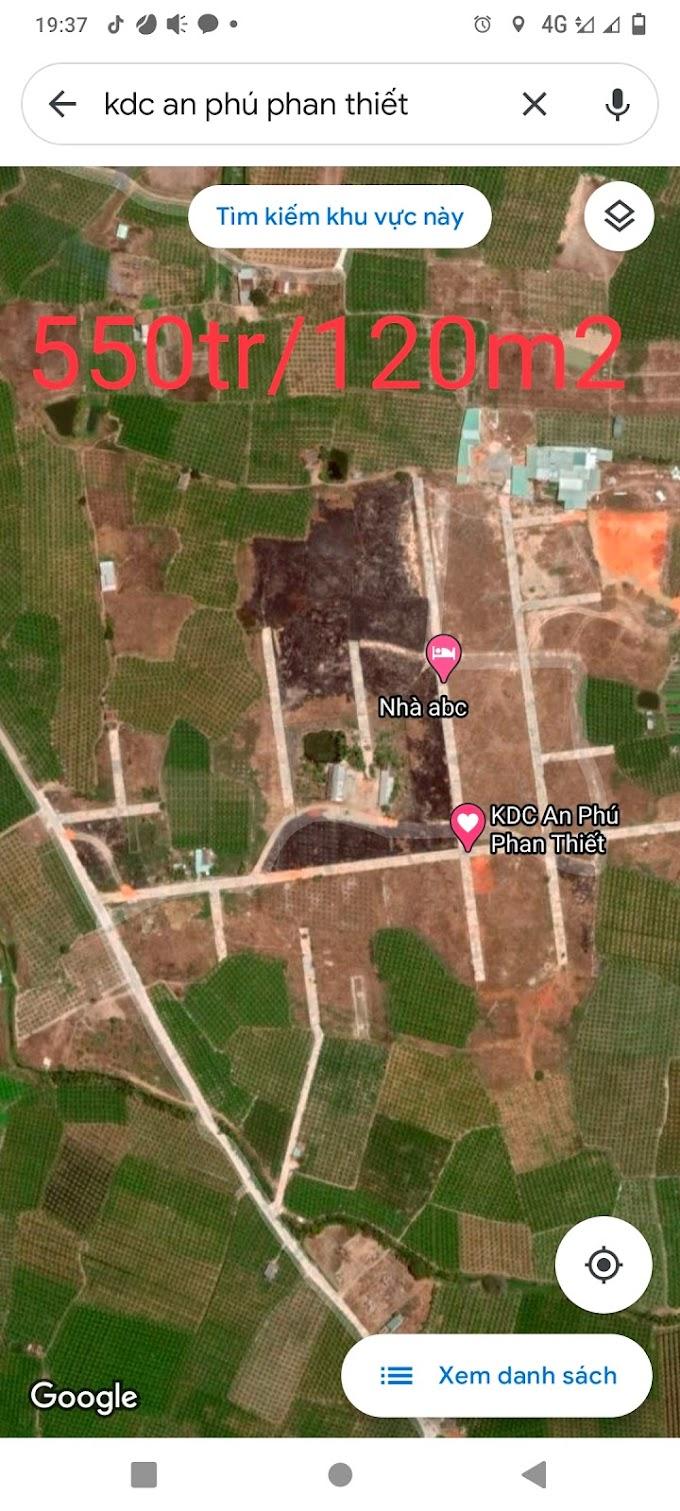 Bán 120m2 thổ cư Khu dân cư An Phú Phan Thiết