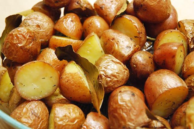 Pommes de terre rôties au laurier