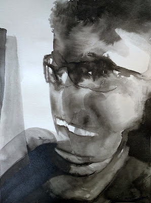 retrato tinta china Benjamin Vilella Josep
