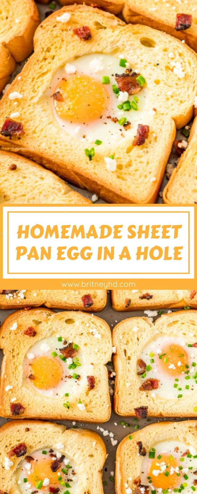 HOMEMADE SHEET PAN EGG IN A HOLE