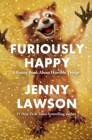 Smiling raccoon surrounded by gold glitter