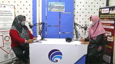 Nazifah di acara Podcast Gandoriah Diskominfo Kota Pariaman