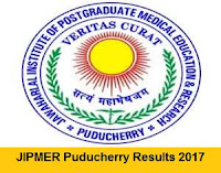 JIPMER Puducherry Results 2017