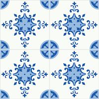 Modelos de alfombras vinilicas - Azul y blanco
