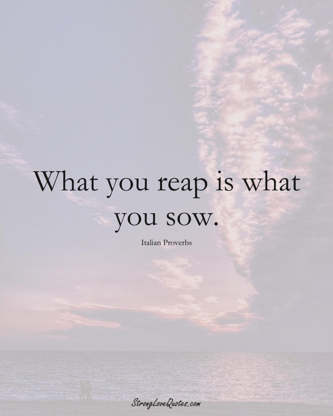 What you reap is what you sow. (Italian Sayings);  #EuropeanSayings