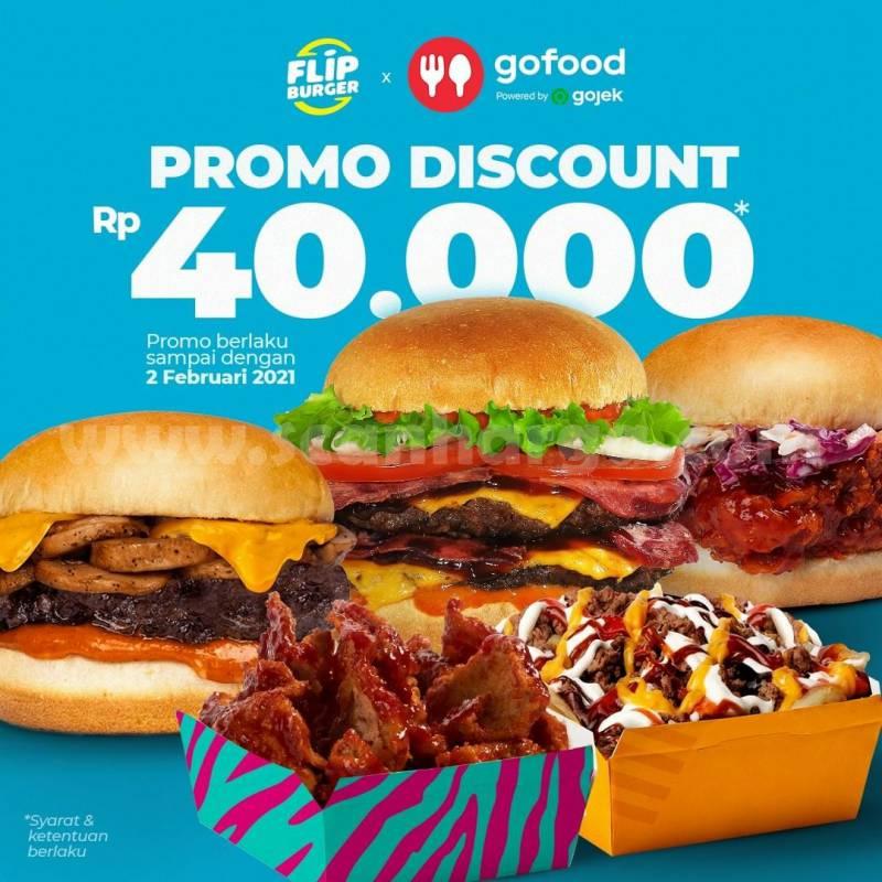 FLIPBURGER Promo Diskon Rp. 40.000 pesan Antar via Gofood