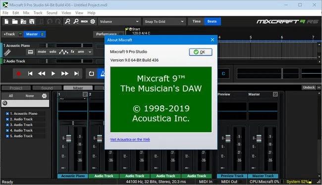تحميل برنامج ممتازلتسجيل الموسيقى Acoustica Mixcraft 9.0 Build 436 كامل بالتفعيل