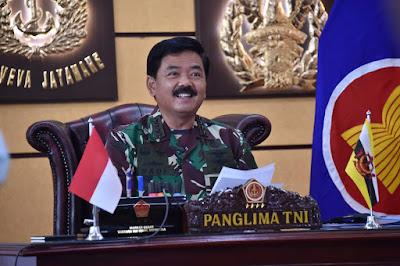 Panglima TNI Virtual Call dengan Pangab Diraja Brunei Darussalam