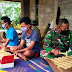Anggota Satgas TMMD Reg-109 Karanganyar Mempelajari Musik Tradisional