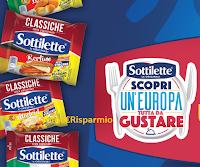 Logo Sottilette ''Europa da gustare'' : vinci voucher viaggio in Europa (10.000 euro)