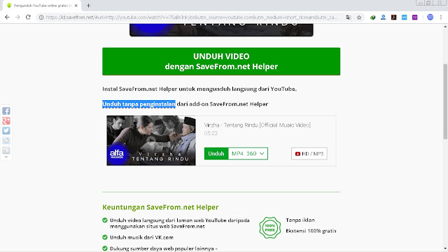 Cara Download Video Dari Youtube Tanpa Aplikasi Youtube Downloader