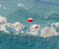 Jelang Subuh, Gempabumi Tektonik 4,9 SR Guncang Lombok dan Bali