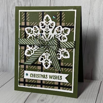 Christmas Card using Mossy Meadow Best Plaid Builder Dies