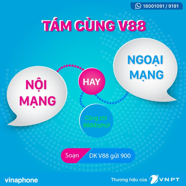 Hướng dẫn cách đăng ký gói cước V88 mạng Vinaphone