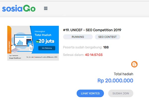 UNICEF SEO Competition 2019