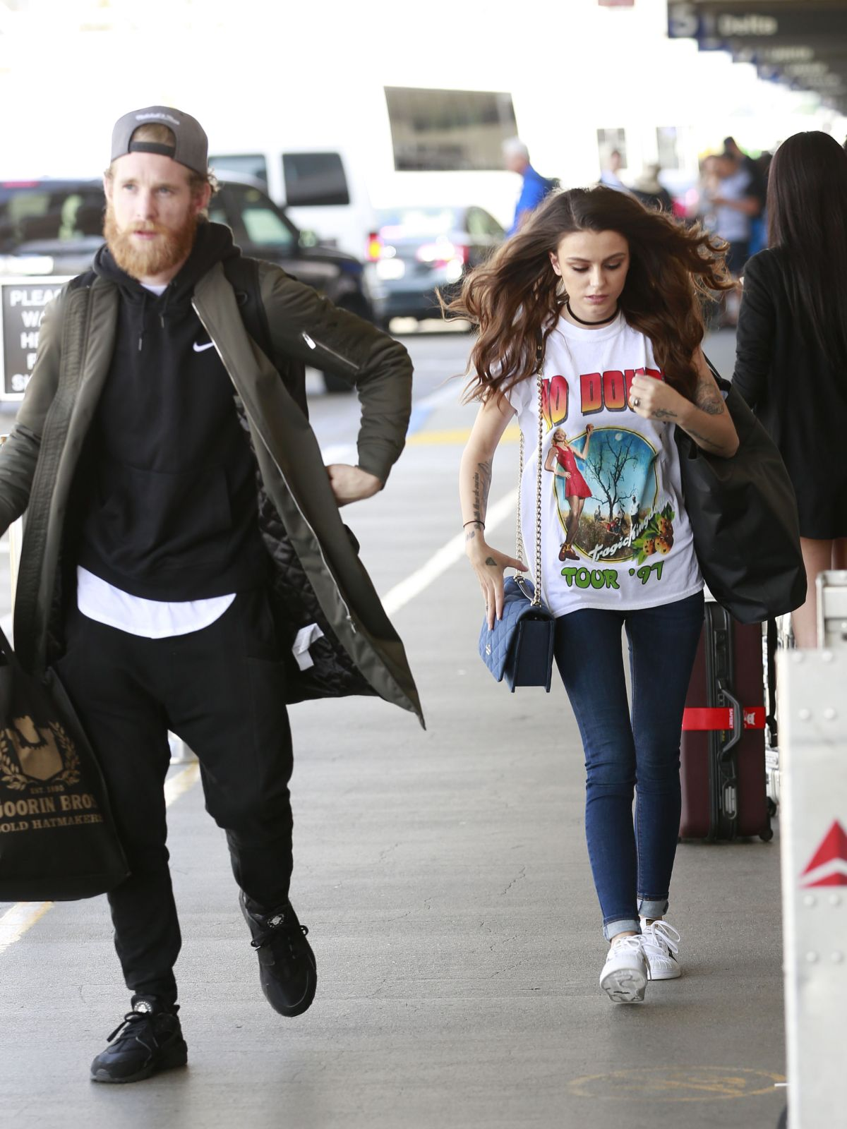 Cher Lloyd At Los Angeles International Airport