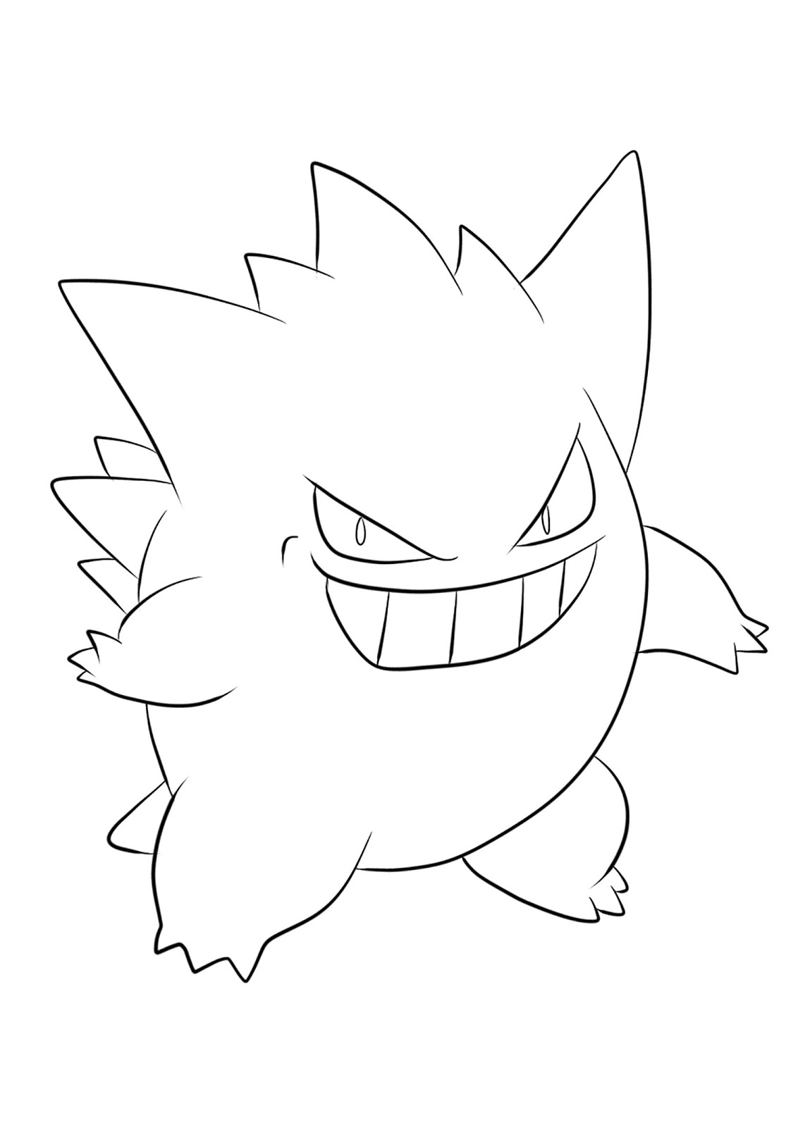 Pokemon Gengar Coloring Pages - Free Pokemon Coloring Pages