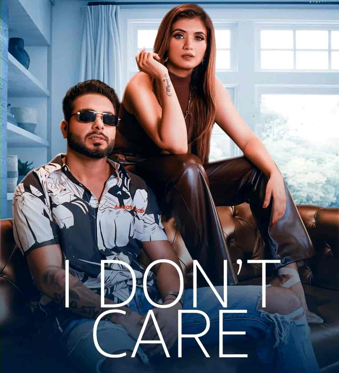 I Don't Care Punjabi Song Image Features Shipra Goyal and Khan Bhaini