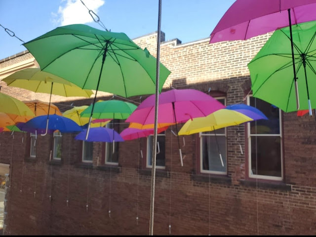 Umbrella Alley, Louisville, Ohio, by Anthony McCune