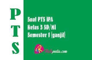 Soal Ulangan PTS IPA Semester 1 Kelas 6 SD Lengkap Kunci Jawaban
