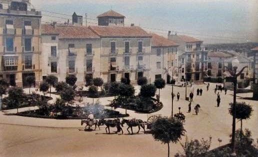 Postales antiguas de andaluc a plaza de las eras baza - Baza granada fotos ...