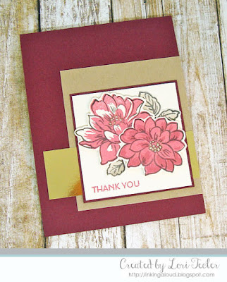 Sunlit Flowers Thank You card-designed by Lori Tecler/Inking Aloud-stamps from Altenew