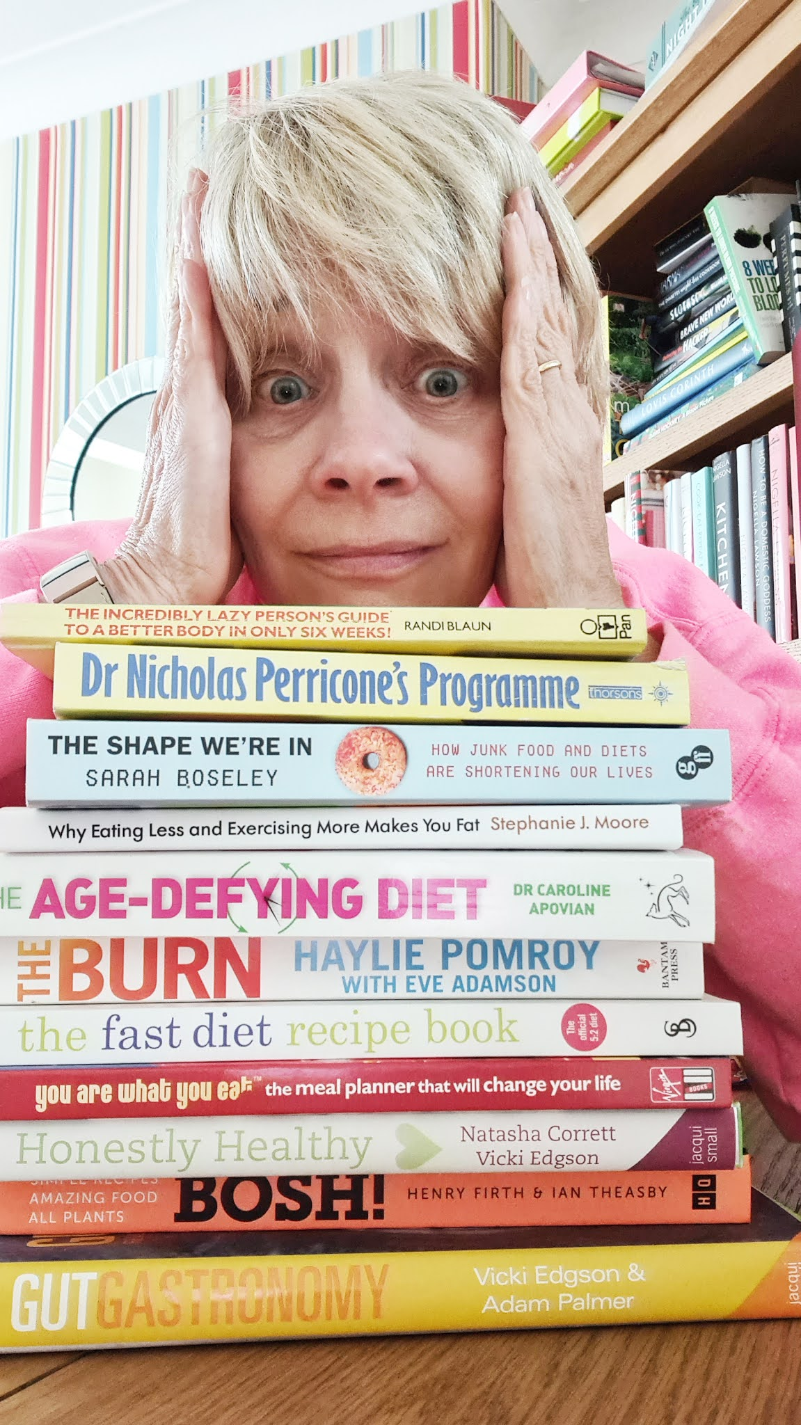 Gail Hanlon from Is This Mutton with some of her healthy eating and diet books