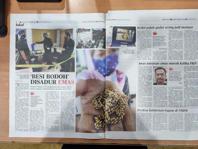 """Ramai menjadi mangsa 'Besi Bodoh"""" disadur emas berikutan tawaran emas murah ketika PKP"""