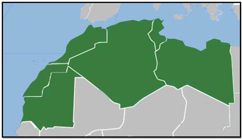 خريطة صماء لدول المغرب