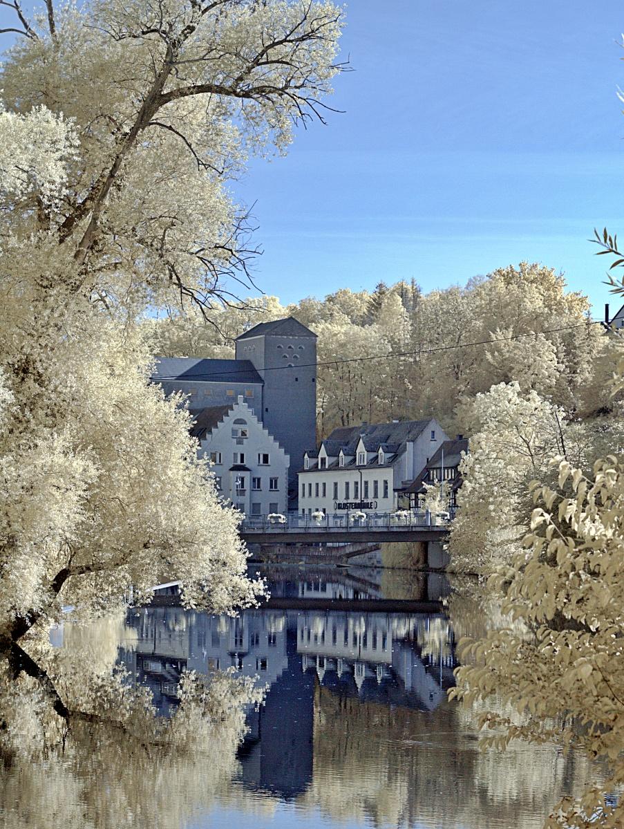Infrarote Klostermühle zu Mittelstadt
