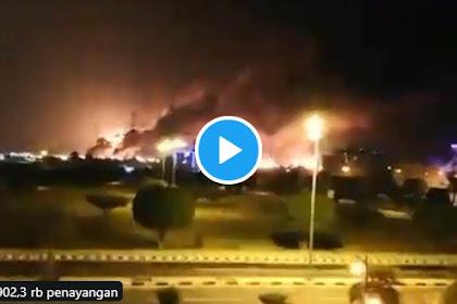 Teroris Syiah Houthi Bom Pusat Minyak Terbesar Dunia di Arab Saudi